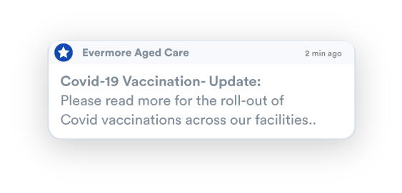 Aged Care Message Broadcasting